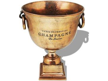 Refroidisseur à champagne Coupe de trophée Cuivre Marron - vidaXL