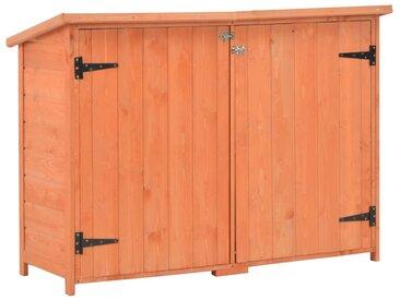 Abri de stockage de jardin 120x50x91 cm Bois - vidaXL