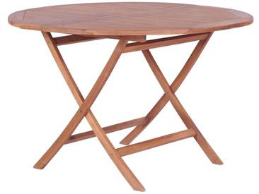 Table à manger pliable Teck massif 120 x 75 cm - vidaXL