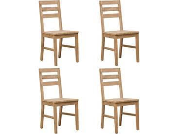 Chaises de salle à manger 4 pcs Bois dacacia massif - vidaXL