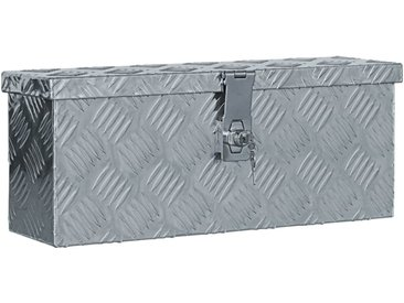 Boîte en aluminium 48,5 x 14 x 20 cm Argenté - vidaXL