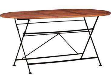 Table de jardin 160 x 85 x 74 cm Bois dacacia massif Ovale - vidaXL