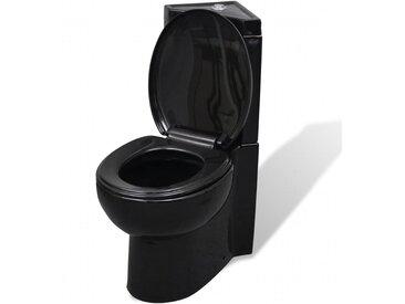 WC Cuvette céramique Noir - vidaXL