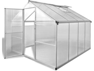 Serre renforcée en aluminium avec cadre de base 6,05 m²  - vidaXL
