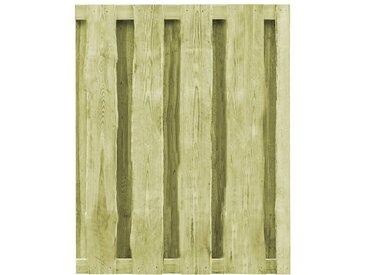 Portillon Bois de pin imprégné FSC 100 x 125 cm Vert - vidaXL
