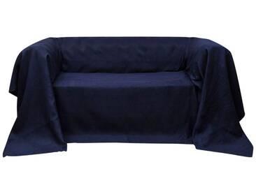 Housse Micro-suède de canapé Blue marine 270 x 350 cm - vidaXL