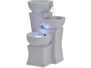 Fontaine d'intérieur avec lampe LED Polyrésine - vidaXL