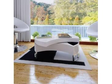 Table basse à forme réglable Haute brillance Blanc  - vidaXL