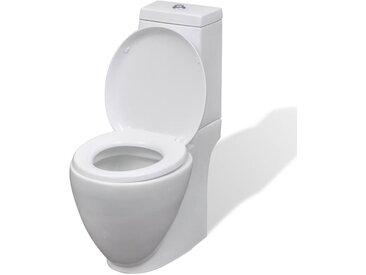 Toilette en céramique Ronde Blanc - vidaXL