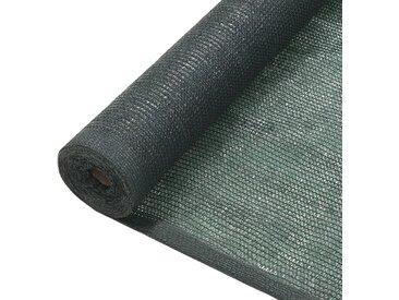 Filet brise-vue PEHD 1,5 x 25 m Vert - vidaXL