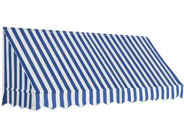 Auvent de bistro 250x120 cm Bleu et blanc - vidaXL
