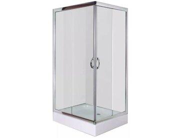 Cabine de douche avec bac Rectangulaire 100 x 80 x 185 cm - vidaXL