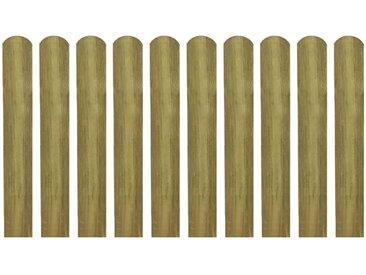 Latte imprégnée de clôture 20 pcs 60 cm Bois - vidaXL