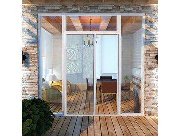 Moustiquaire coulissante pour portes Blanc 120x215 cm - vidaXL