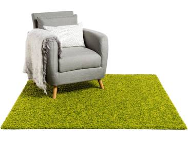 Tapis shaggy à poils longs Swirls Vert 60x60 cm - Tapis descente de lit