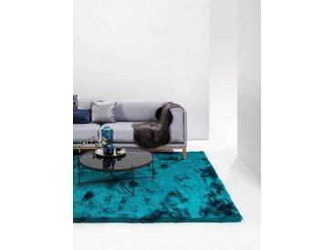 Tapis shaggy à poils longs Whisper Turquoise 80x150 cm - Tapis doux pour salon