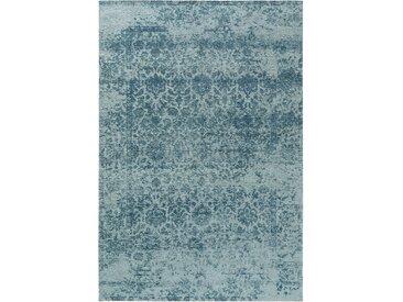 Tapis Vintage tisséàplat Tosca Bleu 115x180 cm - Tapis poil ras / effet usé