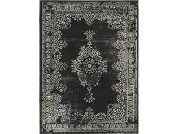 Tapis Vintage Antique Noir & Blanc 120x170 cm - Tapis poil ras / effet usé