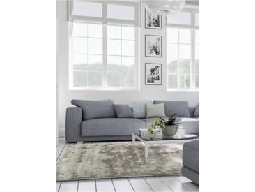 Tapis poil ras Donna Viscose Gris 160x230 cm - Tapis poil court design moderne pour salon
