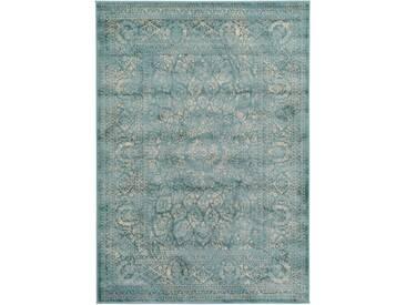 Tapis Vintage Velvet Bleu 240x340 cm - Tapis poil ras / effet usé