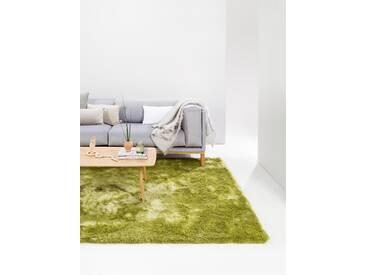 Tapis shaggy à poils longs Whisper Vert 240x340 cm - Tapis doux pour salon