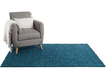 Tapis shaggy à poils longs Swirls Bleu 120x170 cm - Tapis doux pour salon