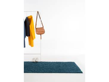Tapis shaggy à poils longs Swirls Bleu 80x300 cm - Tapis doux pour salon