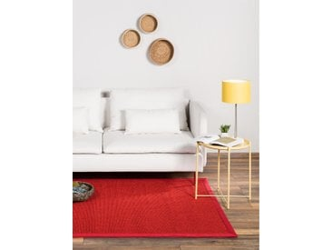 Tapis Sisal avec bordure Rouge 80x150 cm - Tapis nature