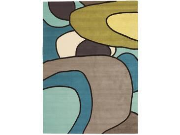 Brink & Campman Tapis en laine Estella Comic Bleu 140x200 cm - Tapis nature
