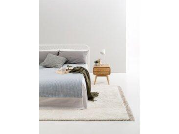 Tapis shaggy à poils longs Ava Crème 80x150 cm - Tapis doux pour salon