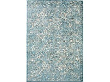 Tapis Vintage Velvet Bleu 140x200 cm - Tapis poil ras / effet usé