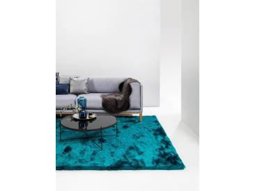 Tapis shaggy à poils longs Whisper Turquoise 160x230 cm - Tapis doux pour salon