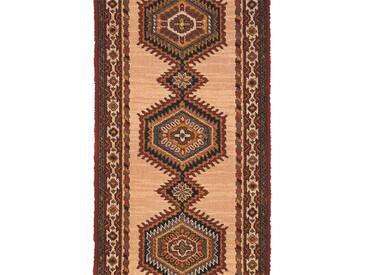Brink & Campman Tapis de couloir en laine Sultan Beige 70x500 cm - Tapis nature