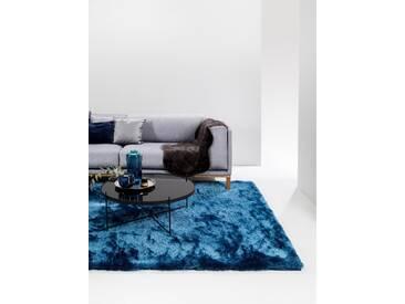 Tapis shaggy à poils longs Whisper Bleu 80x150 cm - Tapis doux pour salon