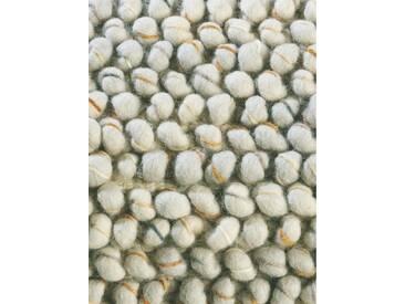 Brink & Campman Tapis en laine à poils longs Cobble Gris clair 200x250 cm - Tapis nature