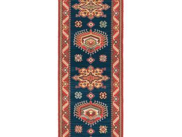 Brink & Campman Tapis de couloir en laine Emir Bleu 70x450 cm - Tapis nature