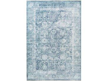 Tapis Vintage en viscose Yuma Bleu 160x230 cm - Tapis poil ras / effet usé