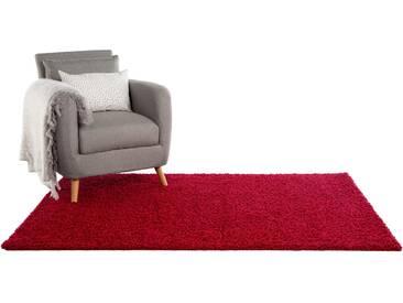 Tapis shaggy à poils longs Swirls Rouge foncé 133x190 cm - Tapis doux pour salon
