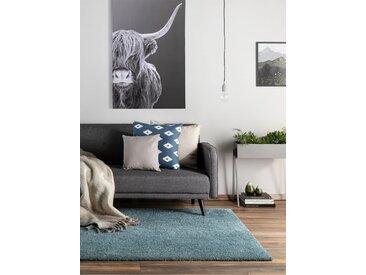 Tapis shaggy à poils longs Wisby Turquoise 120x170 cm - Tapis doux pour salon