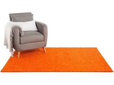 Tapis shaggy à poils longs Swirls Orange 160x230 cm - Tapis doux pour salon