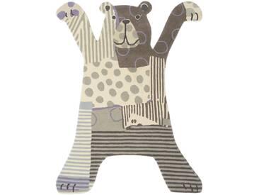 Brink & Campman Tapis enfants Kids Bear Gris 85x115 cm - Tapis pour chambre denfants/bébé