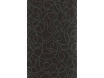 Brink & Campman Tapis de couloir en laine Items Noir 70x250 cm - Tapis nature