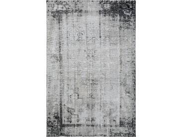 Tapis Vintage tisséàplat Frencie Noir/Gris 300x400 cm - Tapis poil ras / effet usé