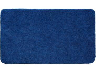 Grund Tapis de Bain Lex Bleu foncé 60x100 cm - Tapis pour salle de bain