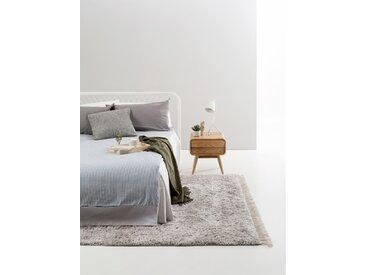 Tapis shaggy à poils longs Ava Gris clair 140x200 cm - Tapis doux pour salon