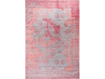 Tapis Vintage Frencie Rouge/Bleu 200x285 cm - Tapis poil ras / effet usé