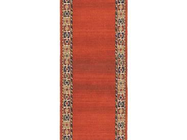 Brink & Campman Tapis de couloir en laine  Quashqai Orange 70x400 cm - Tapis nature