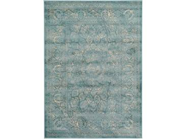 Tapis Vintage Velvet Bleu 200x290 cm - Tapis poil ras / effet usé
