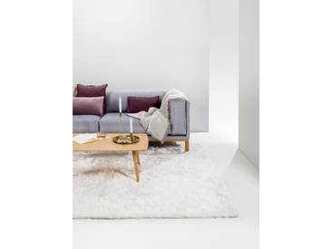 Tapis shaggy à poils longs Whisper Blanc 140x200 cm - Tapis doux pour salon