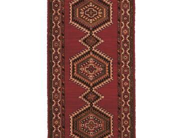 Brink & Campman Tapis de couloir en laine Sultan Rouge 70x200 cm - Tapis nature